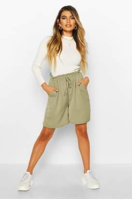 boohoo Woven Drawstring Shorts