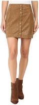 Free People Oh Snap Mini Vegan Suede Skirt