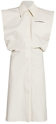 Bottega Veneta Sleeveless Button Down Toile Shirtdress