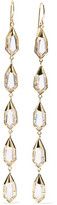 Noir Hue Gold-Tone Crystal Earrings