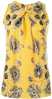 Etro Floral print pleated top - women - Silk - 46
