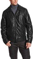 Tommy Hilfiger Men's Faux-Leather Zip-Front Jacket