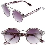 BP Women's 45Mm Round Sunglasses - Marble