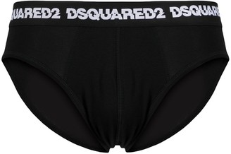 DSQUARED2 Logo-Waistband Briefs