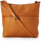 Le Donne Tan Leather Crossbody Bag