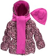 "Pink Platinum Platinum Little Girls' ""Vesper"" Insulated Jacket with Accessories"