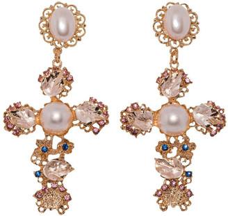 Ashlee Lauren Sofia Embellished Pearl Earrings