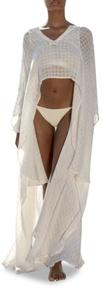 Cult Gaia Goldie Linen Cover-Up Tunic