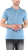 American Crew Men's Henley Half Sleeve Stripes T-Shirt - M (ACHN51-M)
