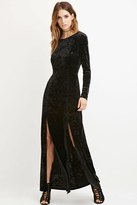 Forever 21 FOREVER 21+ Contemporary Crushed Velvet Maxi Dress
