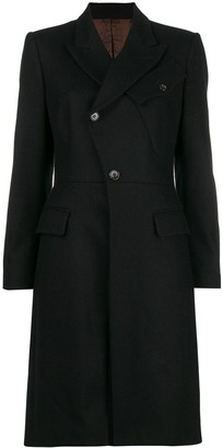 Jean Paul Gaultier Pre-Owned diagonal buttoned midi coat