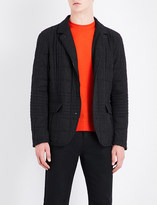 Armani Collezioni Quilted wool-blend jacket