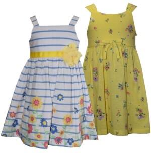 Blueberi Boulevard Baby Girls 2-Pc. Stripes & Floral Sundresses