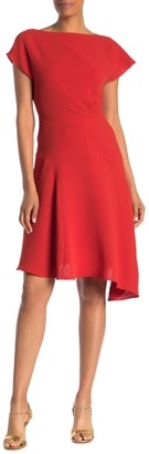 Reiss Victoria Asymmetrical Hem Dress