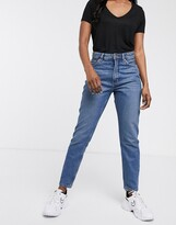 Thumbnail for your product : Monki Kimomo organic cotton high waist mom jeans in classic blue