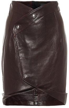 RtA Paloma leather wrap skirt