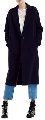 Maje Gina Single-Button Wool-Blend Coat