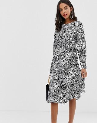 Vila zebra print midi dress