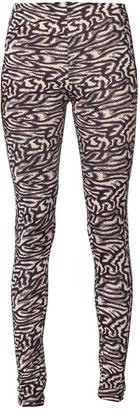 MAISIE WILEN Knitted Leggings, Black Beige