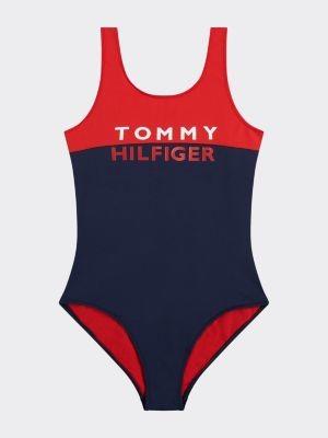 Tommy Hilfiger Colour-Blocked Logo Swimsuit