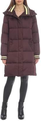 AVEC LES FILLES Stripe-Trimmed Water-Resistant Puffer Jacket
