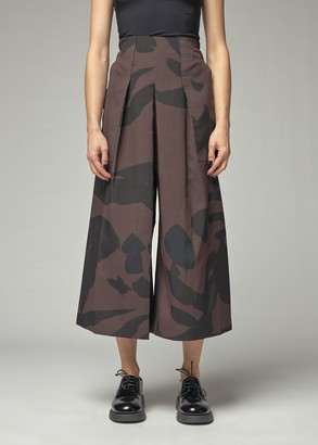 Issey Miyake Women's Bold Print Pant in Brown Size 1