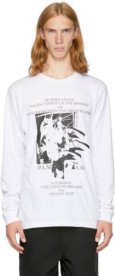Perks And Mini White Long Sleeve dark Impressions T-shirt