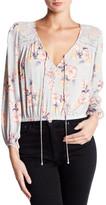 Lush Woven Lace Crop Shirt