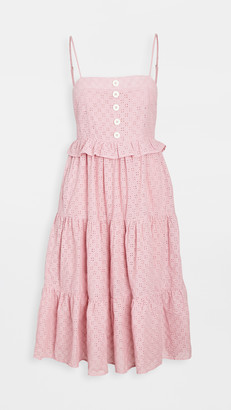 En Saison Eyelet Tiered Sleevless Dress