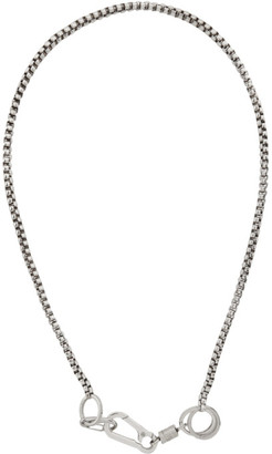 Martine Ali Silver Boxer Hardware Wrap Chain Necklace