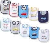Luvable Friends Baby Boys' 10-Pack Baby Bibs