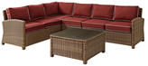 Crosley Baltimore Outdoor Wicker Seating Set with Cushions (5 PC)