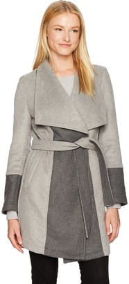 Cupcakes And Cashmere Women's Akria Two Tone Wrap Coat