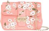 Monique Lhuillier medium floral embroidered Bianca shoulder bag - women - Leather/Calf Hair - One Size