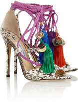 Jimmy Choo Dream rope-tie elaphe sandals