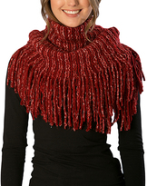 Pure Style Girlfriends Red Knit Fringe Snood