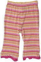 Kickee Pants Print Ruffle Pant (Baby) - Island Girl Stripe-Preemie