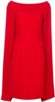 Alberta Ferretti cape flared dress - women - Acetate/Viscose - 42