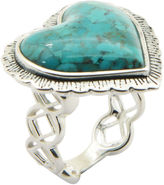 FINE JEWELRY Silver Elements By Barse Womens Blue Turquoise Sterling Silver Cocktail Ring