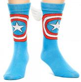 Bioworld Captain America Winged Crew Socks - Men