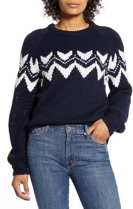 Velvet by Graham & Spencer Velvet Fair Isle Crewneck Sweater