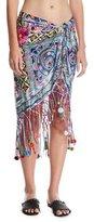 Camilla Printed Short Sarong Coverup, Multicolor
