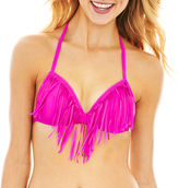 Arizona Fringe Halter Bra Swim Top - Juniors