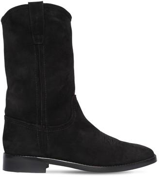 Alberta Ferretti 20mm Suede Ankle Boots