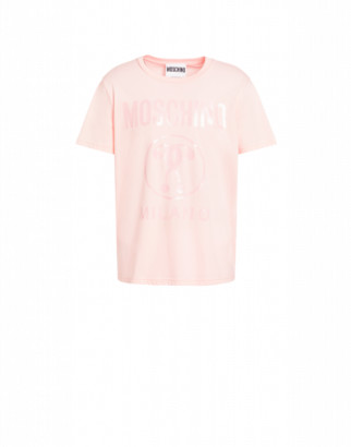 Moschino Double Question Mark Jersey T-shirt Man Pink Size 44 It - (34 Us)