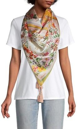 Johnny Was Romantic Tassel Silk Scarf