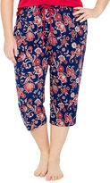 Liz Claiborne Jersey Stripe Pajama Pants-Plus