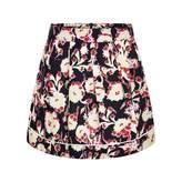 Marni MarniGirls Navy &Yellow Floral Viscose Skirt