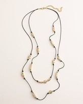 Chico's Chicos Long Goldtone Square Double-Strand Necklace