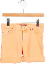 Bonpoint Girls' Cuffed Denim Shorts